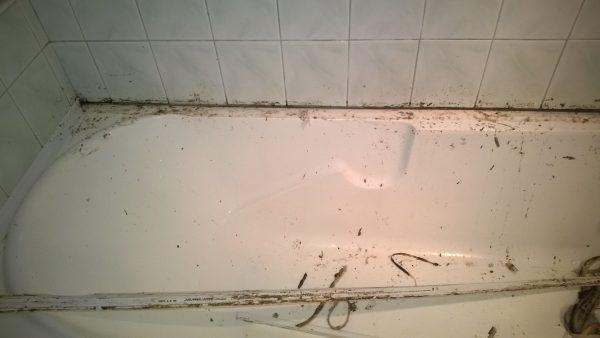 Fürdőkád régi szilikon eltávolítása után tisztítsuk meg a felületet