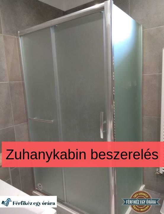 zuhanykabin beszereles